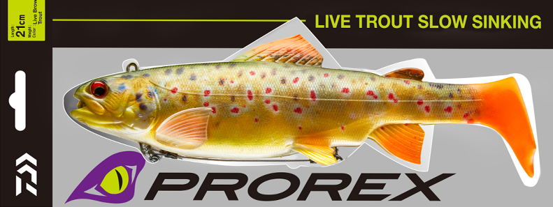 Softlure Swimbait: DAIWA PROREX Live Trout Duckfin